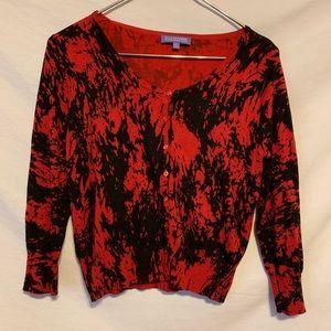 Vivienne tam women s red black Cardi sweater 511a